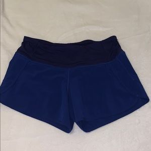Blue Lululemon Run Times Shorts